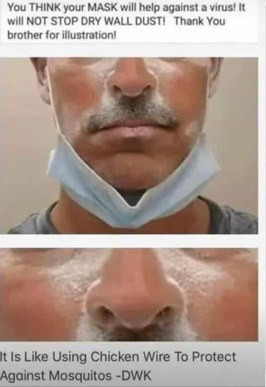 マスクの構造と、ウイルスが防げない科学的な理由